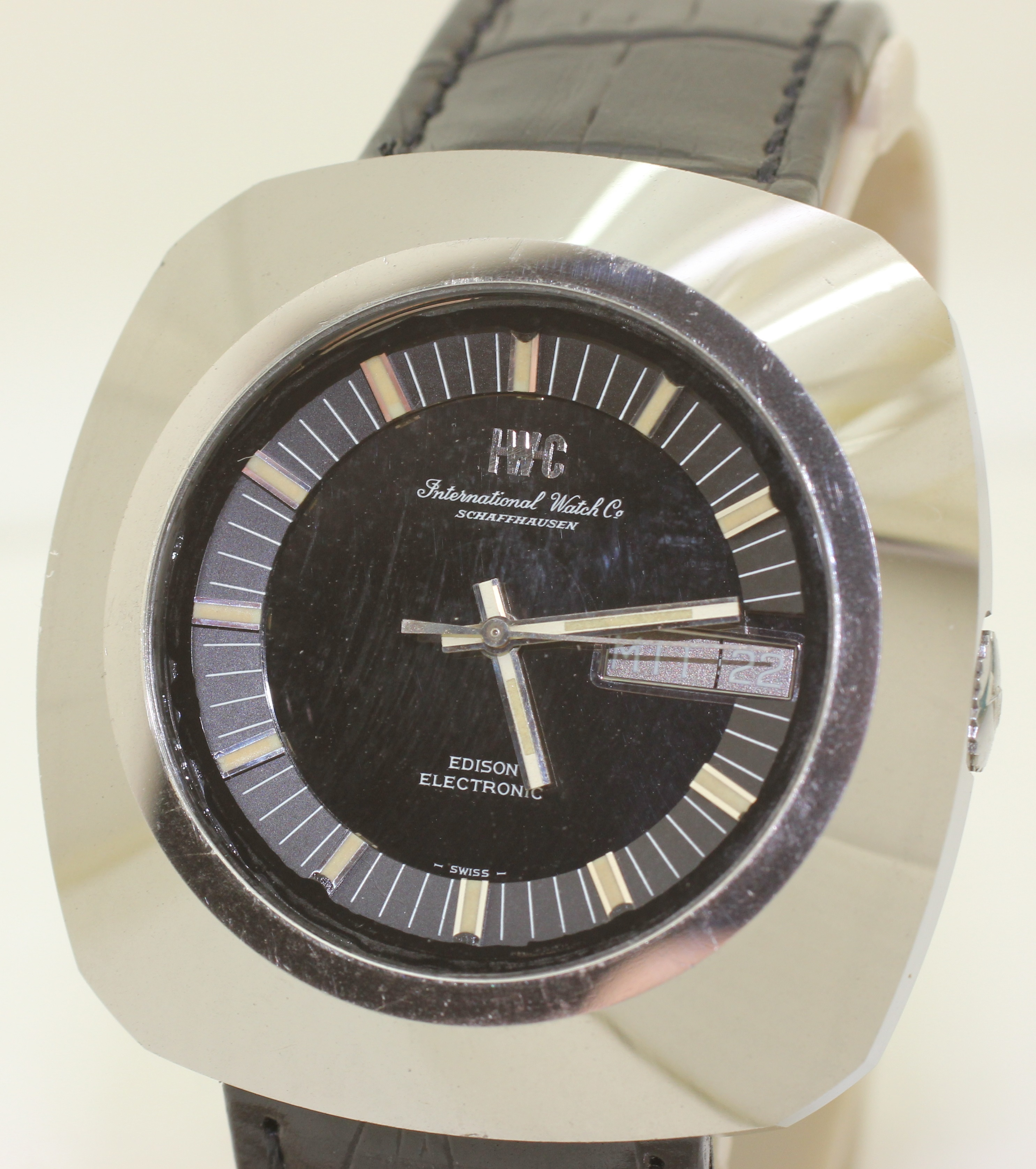 RARE 1970's Stainless Steel IWC Edison Electronic Cal. 160