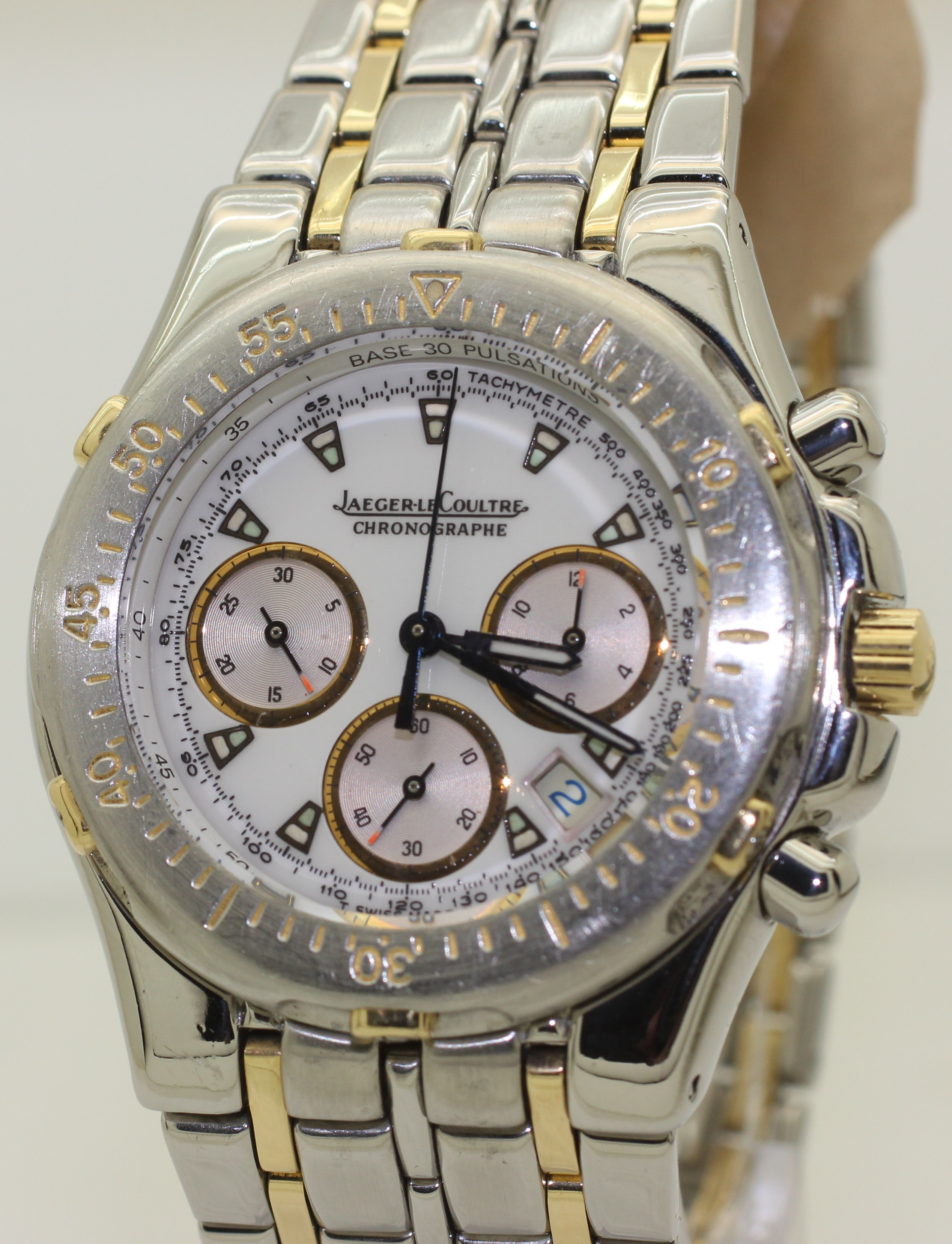Stainless Steel and 18K Gold Jaeger le Coultre Kryos Chronograph 305.5.31 37mm