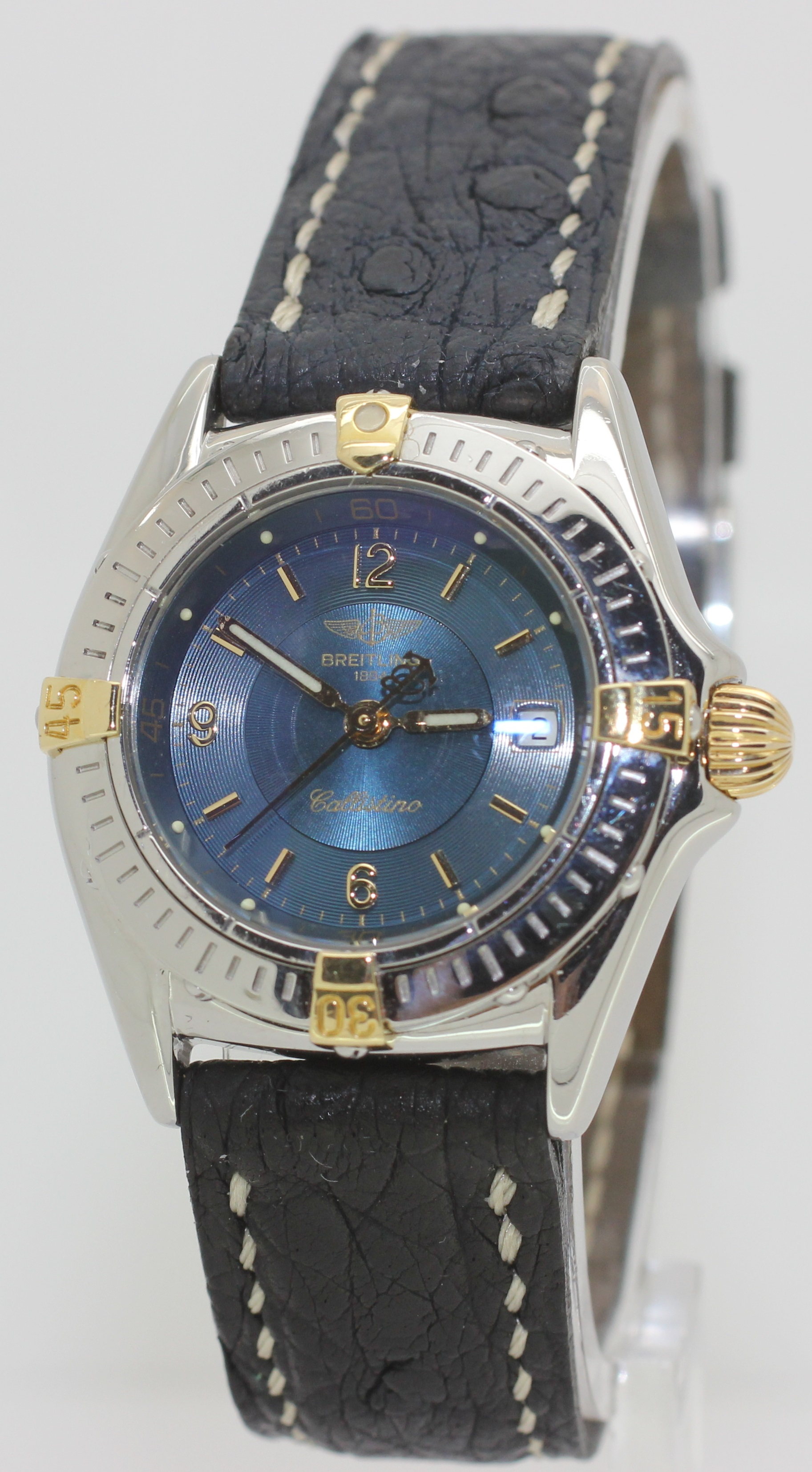 1995 Ladies Steel & 18K Gold Breitling Callistino - B52045 - 27mm